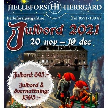 Julbord på Hellefors Herrgård i HÄLLEFORS | Julbordsportalen.se