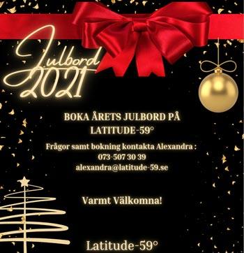 Julbord på Latitude 59 i UPPSALA | Julbordsportalen.se