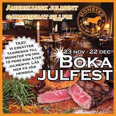 Julbord på Monster Bar & Steakhouse i MALMÖ | Julbordsportalen.se