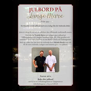 Julbord på Lungo Mare i GÄVLE | Julbordsportalen.se